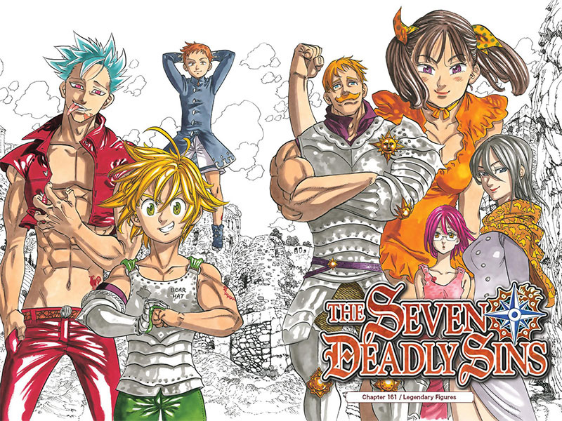 A great variety of characters in The Seven Deadly Sins