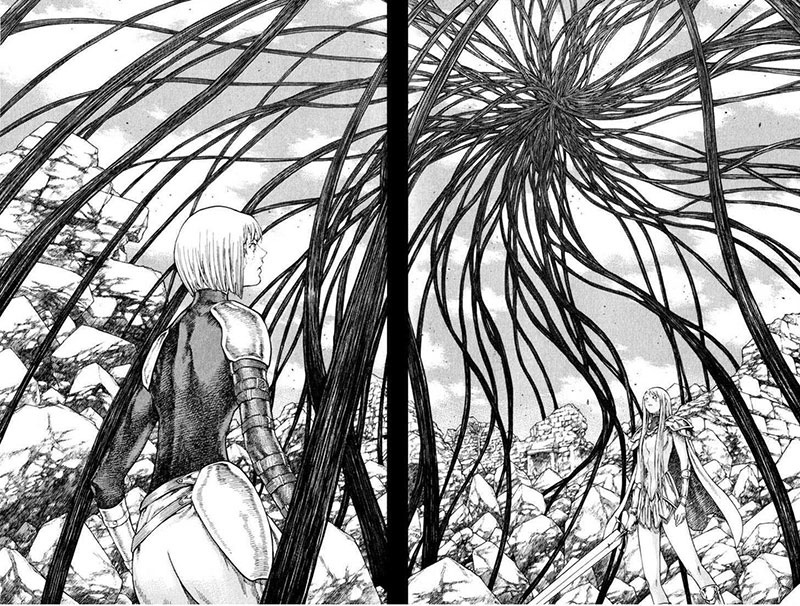 The illustration from Claymore
