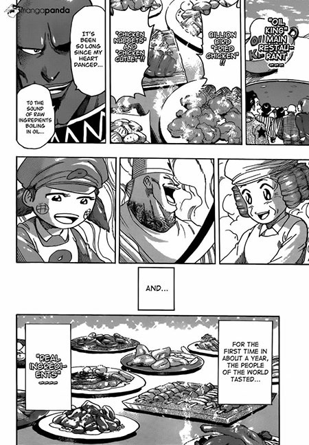 Drawings featuring food in Toriko