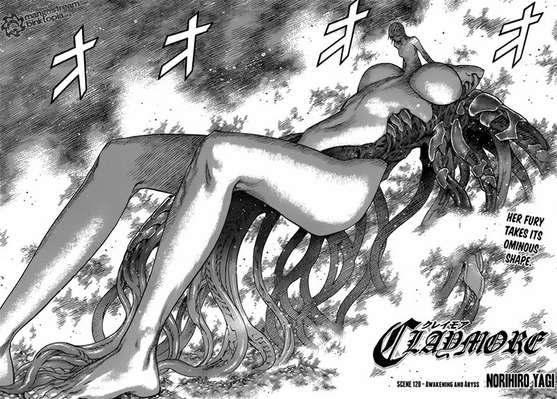Impressive illustrations in Claymore