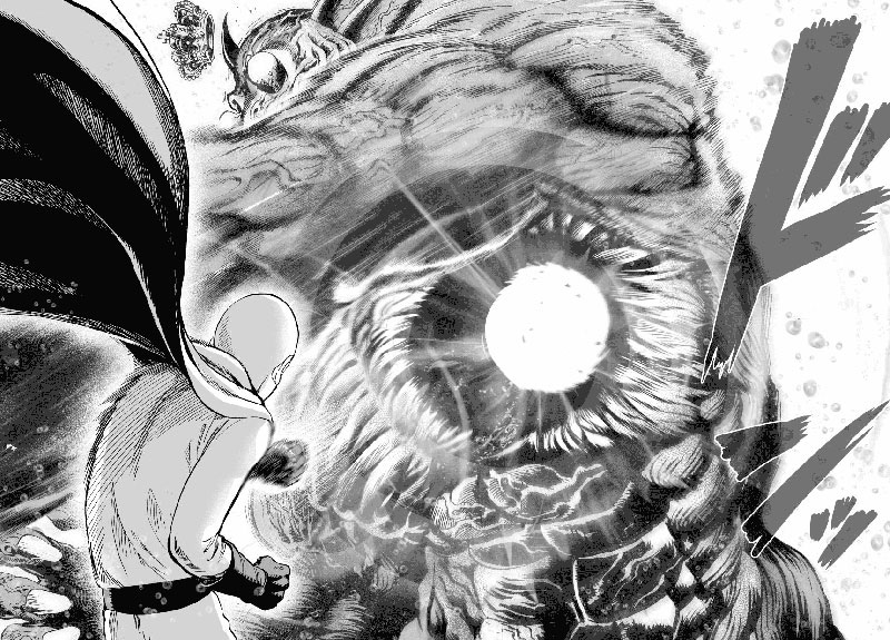 Saitama is fighting Deep Sea King