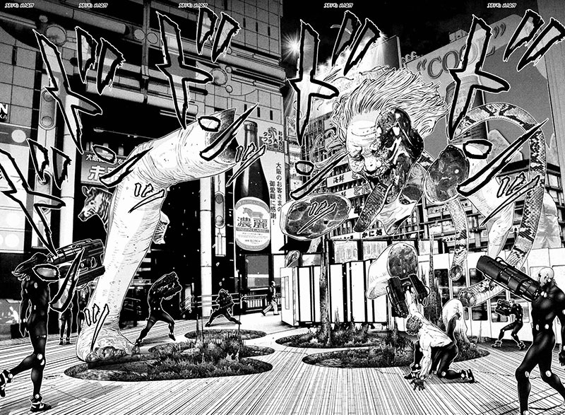 Spectacular artwork in Gantz