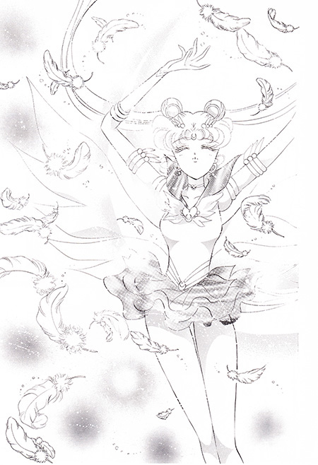 Detailed artwork in Pretty Guardian Sailor Moon