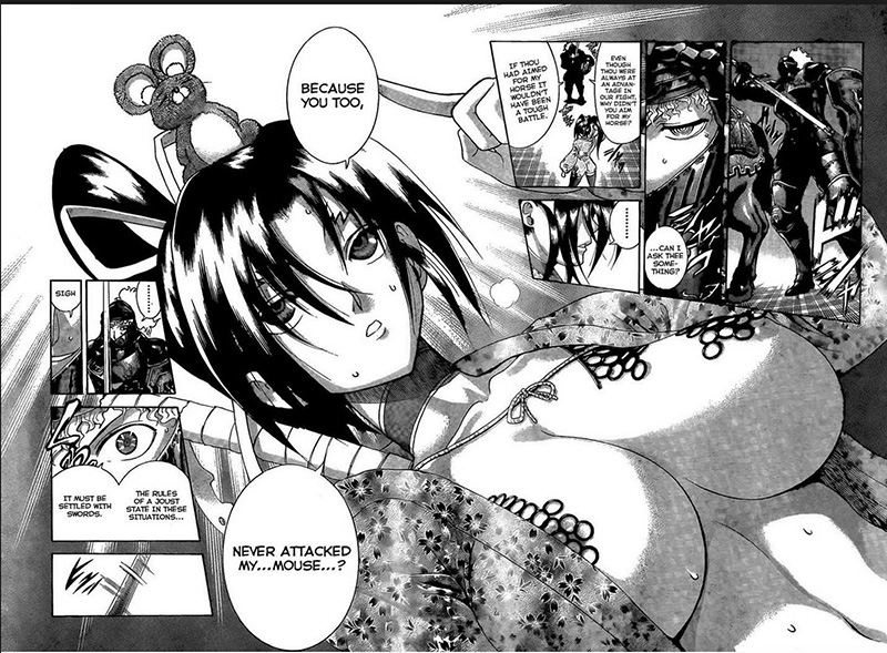 Ecchi elements in History's Strongest Disciple Kenichi