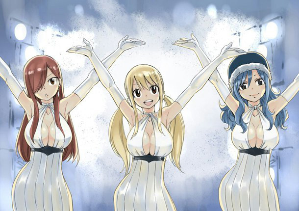 The illustration from Fairy Tail