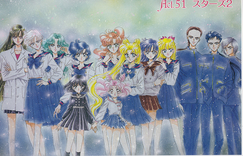 The illustration from Pretty Guardian Sailor Moon