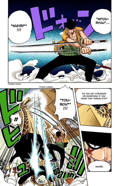 Zoro using the Nitoryu technique