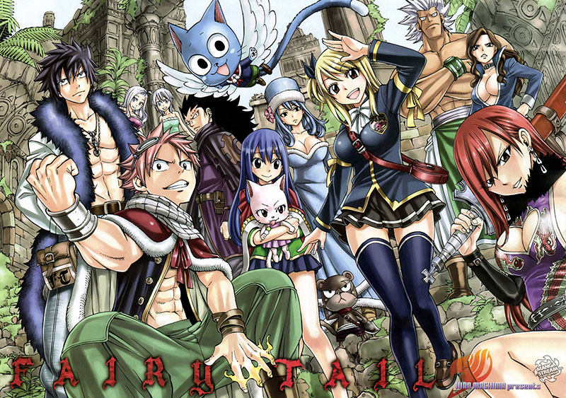 The illustration from Fairy Tail 1