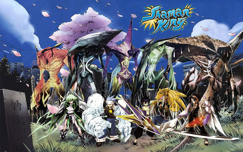 The illustration from Shaman King 4