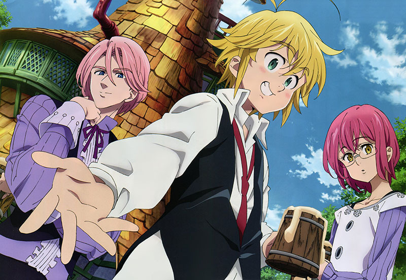 The illustration from The Seven Deadly Sins 1